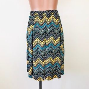 Lula Boho Aztec Print Madison Midi Skirt